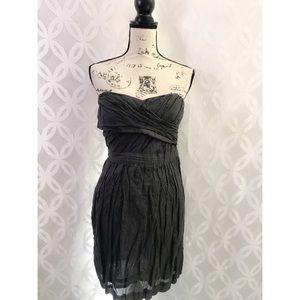 J Crew Strapless Crinkle Cotton Dress NWT 40817
